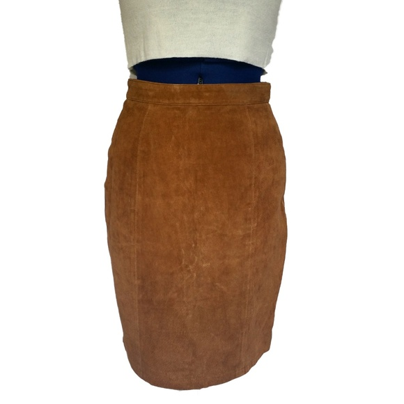 2b3370aea7635 80s G3 Genuine Leather Skirt Womens Juniors Sz 7/8